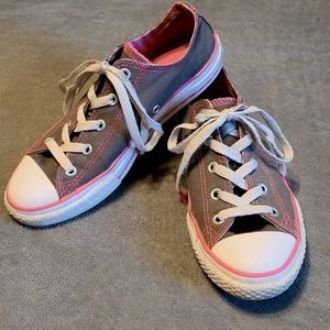 Grey and Pink Converse All Star